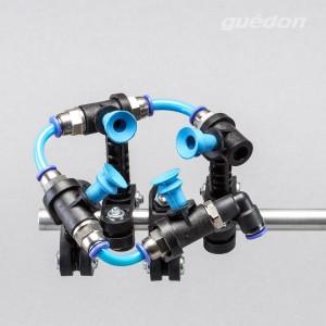 Greiferbau-Flex-o-light Befestigungssystem fuer Vakuumsauger, glasfaserverstaerkter Kunststoff, ultraleicht trotzdem sehr stabil, kompatibel mit allen gaengigen Greifersystemen, einfacher Zusammenbau