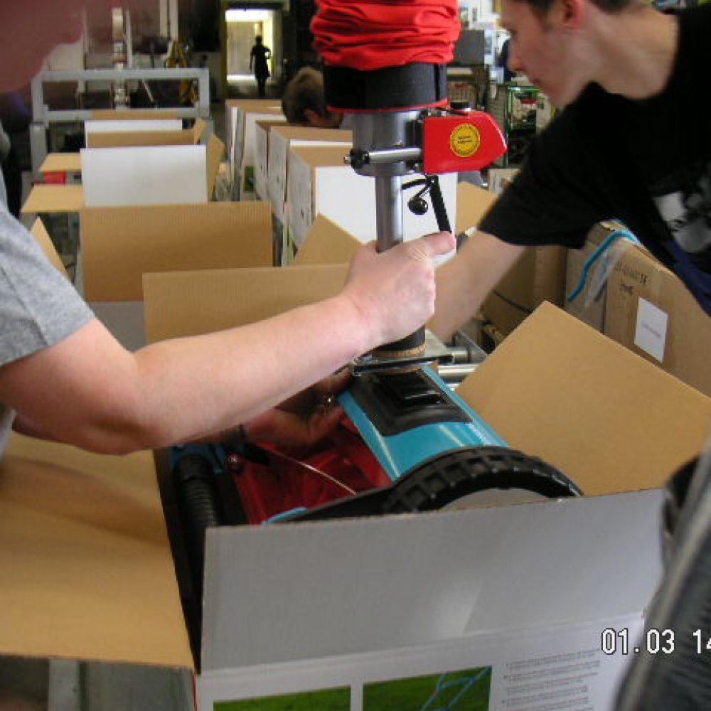 mini SmiLift für das Verpacken von Geräten