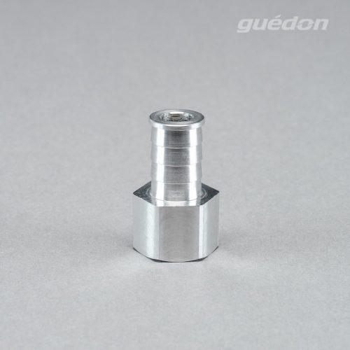Anschlussnippel aus Aluminium zum Aufstecken auf Vakuumsauger der Marke RoboVac, Innengewinde 1/4 Zoll, Groesse 132