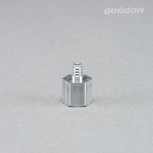 Anschlussnippel aus Aluminium zum Aufstecken auf Vakuumsauger der Marke RoboVac, Innengewinde 1/8 Zoll, Groesse 111