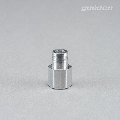 Anschlussnippel aus Aluminium zum Aufstecken auf Vakuumsauger der Marke RoboVac, Innengewinde 1/8 Zoll, Größe 124