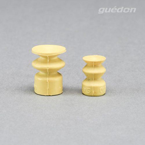 Balgensauger mit 1,5 Falten, silikonfrei, hitzebeständig, keine Lackbenetzungsstörungen, AF2 (gelb), Anschlussnippel einsteckbar