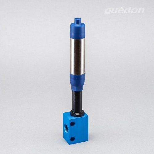 Standardejektor: Vakuumerzeuger, der direkt auf den Greifer montiert werden kann, Ansaugmenge 32 - 400 Nl/min, Vakuumpegel 300 - 860 mbar, Schalldämpfer hochwirksam
