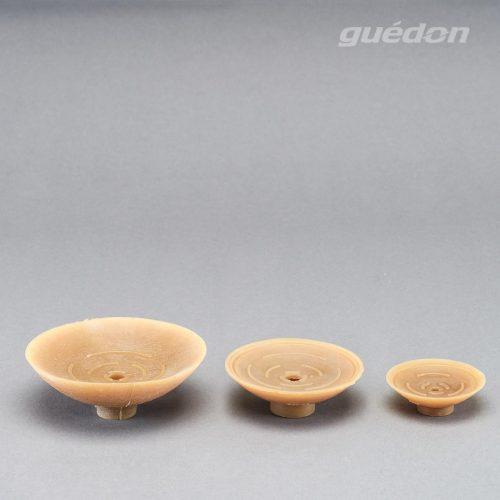Flachsauger aus Naturkautschuk, Anschlussnippel einsteckbar