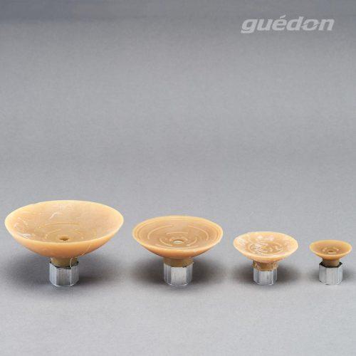 Flachsauger aus Naturkautschuk mit aufvulkanisiertem Innengewinde 1/4 Zoll