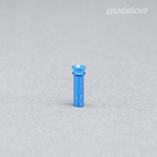 Minisauger mit langem Schaft aus blauem Silikon, Durchmesser 4 mm, anschlussnippel einsteckbar