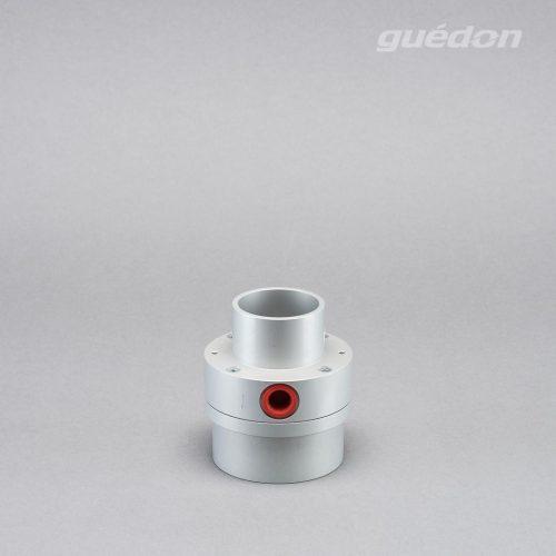 Minigebläse: Vakuumerzeuger mit hohem Volumenstrom zum Handling von sehr porösen Produkten und zur Förderung von leichten Werkstücken, Durchgang 40 mm