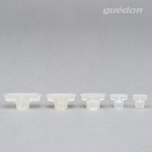 Längliche Flachsauger aus Silikon, Anschlussnippel einsteckbar