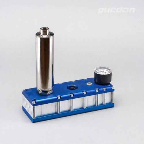 Mehrkammerejektor: mehrstufiger Vakuumerzeuger mit Schalldämpfer hochwirksam und Vakuummeter