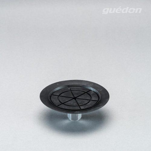 Vakuumsauger mit speziellem Anschlag für dünne Bleche und Scheiben, Durchmesser 120 mm aus NBR mit aufvulkanisiertem Innengewinde 1/4 Zoll