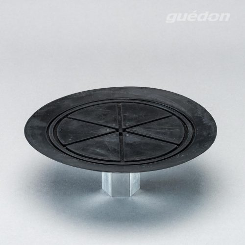 Vakuumsauger mit speziellem Anschlag für dünne Bleche und Scheiben, Durchmesser 200 mm aus NBR mit aufvulkanisiertem Innengewinde 1/2 Zoll