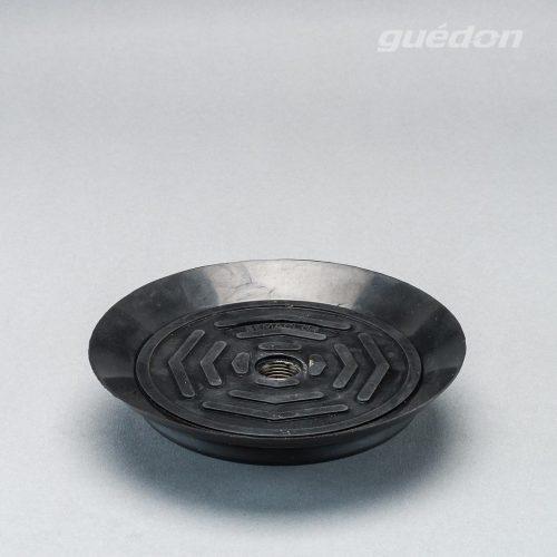 Vakuumsauger mit speziellem Anschlag für dünne Bleche und Scheiben aus NBR mit innenliegendem Innengewinde, vulkanisiert
