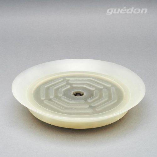 Vakuumsauger für dünne Bleche und Scheiben aus Silikon mit innenliegendem Innengewinde, vulkanisiert