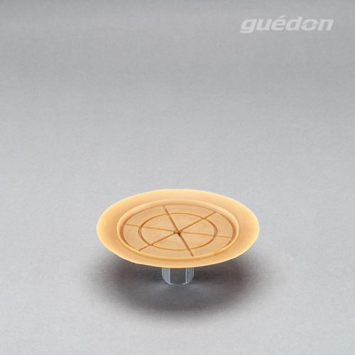 Vakuumsauger mit speziellem Anschlag für dünne Bleche und Scheiben, Durchmesser 120 mm aus Naturkautschuk mit aufvulkanisiertem Innengewinde 1/4 Zoll