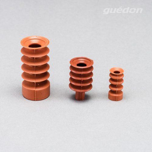 Vakuumsauger für Plätzchen oder Gebäck oder Werkstücke mit besonders stark gewölbter Oberfläche (z.B. Kerzen), besonders weiches Silikon, FDA-konform, lebensmittelecht, Anschlussnippel einsteckbar