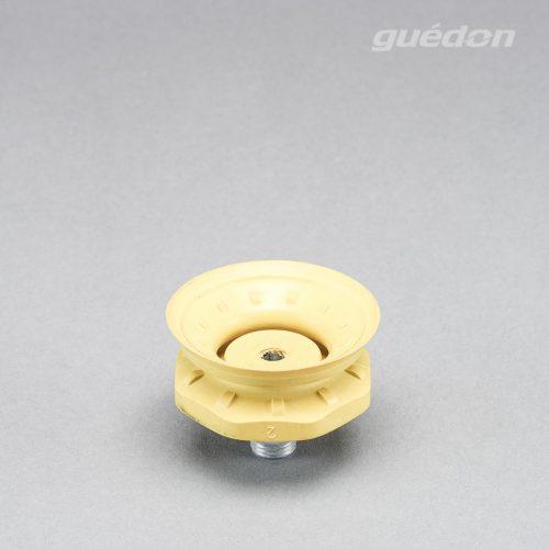 Vakuumsauger mit Speziallippe für genarbte Oberflächen, z.B. Airbagdeckel oder Stoßfänger, AF2 (gelb), Außengewinde 1/4 Zoll aufvulkanisiert