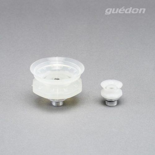 Vakuumsauger mit Speziallippe fuer genarbte Oberflächen, z.B. Airbagdeckel oder Stossfänger, Silikon, Außengewinde 1/4 Zoll aufvulkanisiert