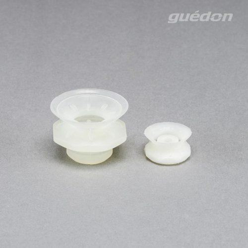 Vakuumsauger mit Speziallippe für genarbte Oberflächen, z.B. Airbagdeckel oder Stoßfänger, Silikon, Anschlussnippel einsteckbar
