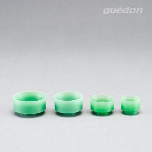 Vakuumsauger für Pralinen und Schokolade, keine Beschädigung der Produktoberfläche, Silikon (grün), lebensmittelecht, FDA-konform, Anschlussnippel einsteckbar