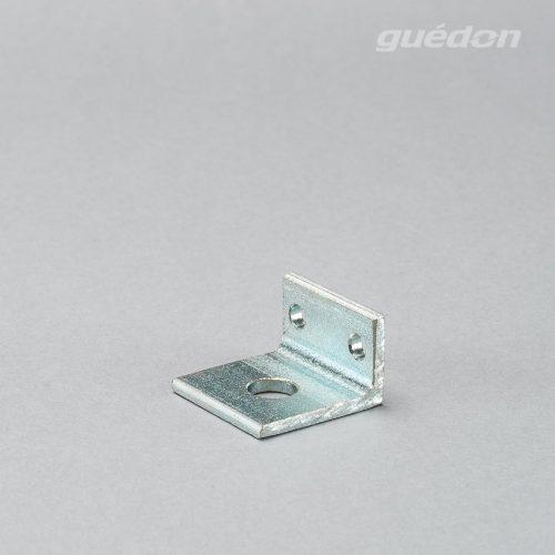 Winkel aus Aluminium zur Befestigung von Vakuumsaugern an Aluprofilen, kombinierbar mit Federstoesseln oder Schottverschraubungen