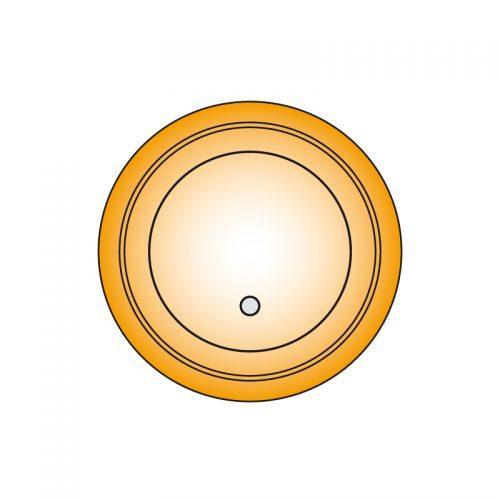 Metallsauglatten rund mit Hartgummidichtung