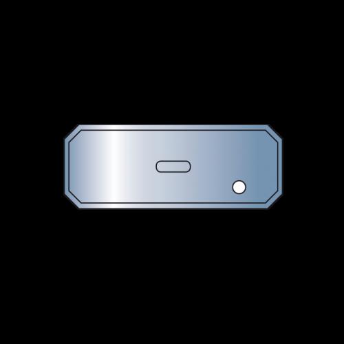 Metallsaugplatten länglich mit Moosgummidichtung