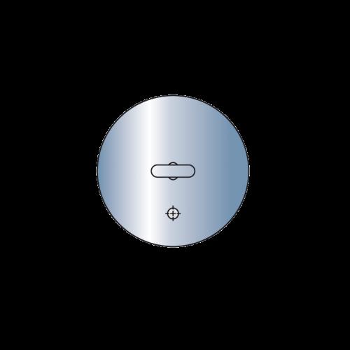 Metallsaugplatten rund mit Moosgummidichtung