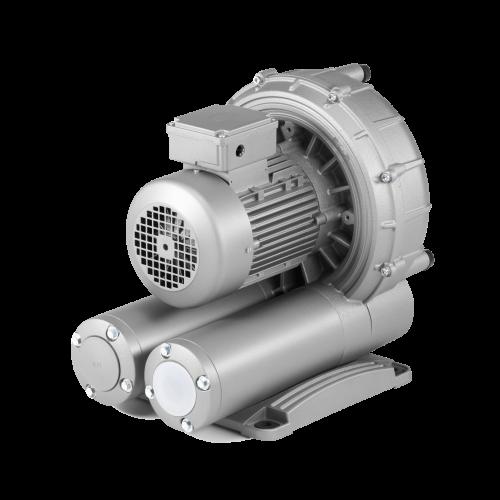 PVCA-Vakuumgeblaese, hohe Ansaugleistung reduzierter Vakuumpegel, besonders geeignet zum Handling von poroesen, leichten Produkten, serienmaessig mit intergriertem Filter und Vakuumregulierventil, hohe Energieeffizienz, wartungsfrei