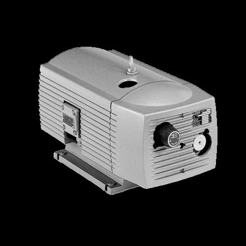 Elektrische Drehschieber Vakuumpumpe, Trockenlaeufer, besonders geeignet zum Handling von dichten Produkten, serienmaessig mit intergriertem Filter und Vakuumregulierventil, hohe Energieeffizienz, wartungsarm