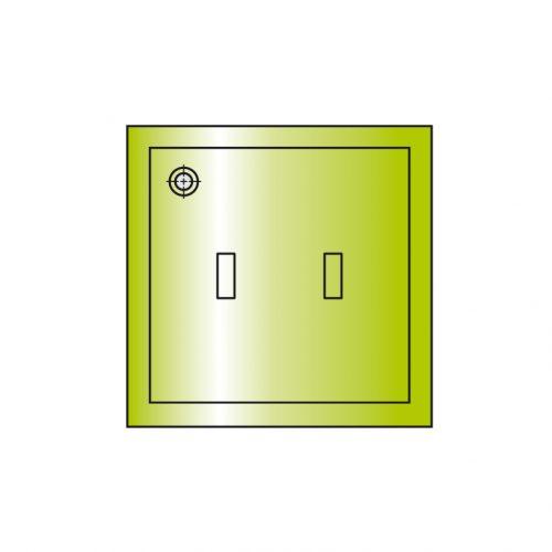 Metallsaugplatten quadratisch mit Moosgummidichtung
