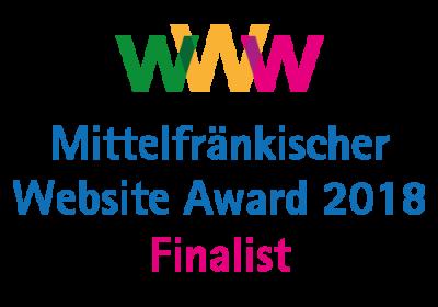 Mittelfränkischer Website-Award - guédon ist nominiert