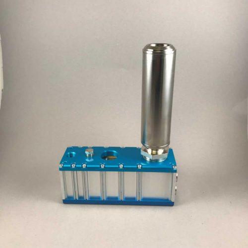 Ejektor für Vakuumhebegeräte: Turbo-Ejektor T3X mit Schalldämpfer, Spezialausführung in kompakter Baugröße