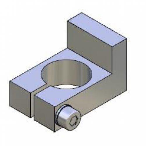 Anschlag für Winkelspanngreifer mit Klemmgröße 20, Anschlag für Greiffinger ANS.20, Greiflösungen von guédon – Vakuumspezialist
