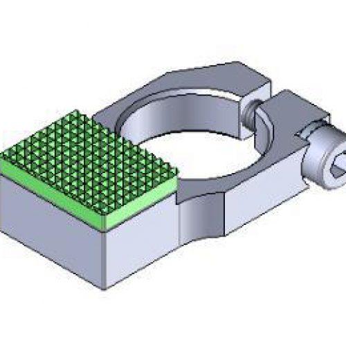 Anschlag mit Gummierung für Winkelspanngreifer mit Klemmgröße 14, Anschlag für Greiffinger GRF14.95.0708, Greiflösungen von guédon – Vakuumspezialist