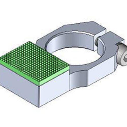 Anschlag mit Gummierung für Winkelspanngreifer mit Klemmgröße 20, Anschlag für Greiffinger GRF20.95.0708, Greiflösungen von guédon – Vakuumspezialist