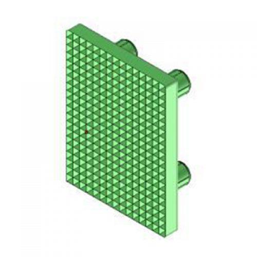 Ersatz-Gummieinsatz für Winkelspanngreifer mit Klemmgröße 20, Anschlag für Greiffinger GRF20.95.08.V, Greiflösungen von guédon – Vakuumspezialist