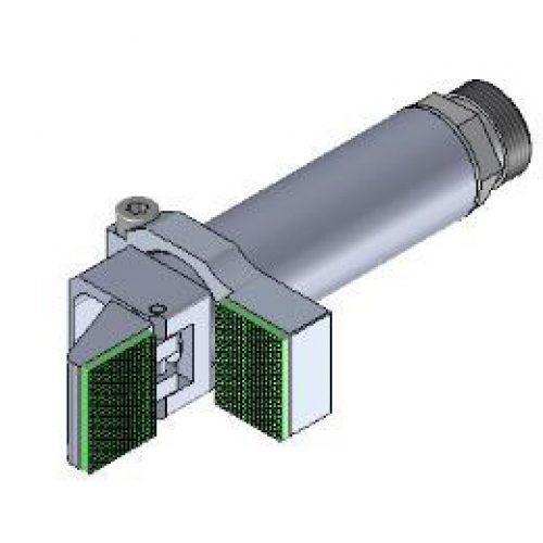 Winkelspanngreifer mit gummierter Greifbacke und Anschlag, Klemmgröße 20 mm, Hub 95°,Greiffinger GRF.2095.G, Greiflösungen von guédon – Vakuumspezialist