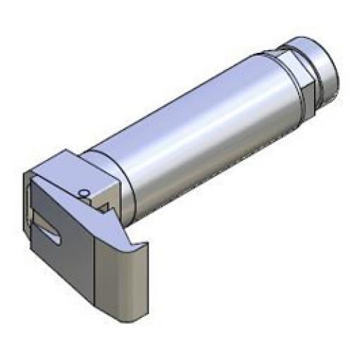 Winkelspanngreifer mit gummierter Greifbacke und Anschlag, Klemmgröße 30 mm, Hub 35°,Greiffinger GRF.3035.WE, Greiflösungen von guédon – Vakuumspezialist