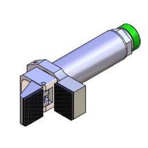 Winkelspanngreifer mit gummierter Greifbacke und Anschlag, Klemmgröße 30 mm, Hub 95°,Greiffinger GRF.3095.G, Greiflösungen von guédon – Vakuumspezialist