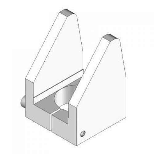 Zentrierstück für Winkelspanngreifer mit Klemmgröße 30, Anschlag für Greiffinger ZTS.30, Greiflösungen von guédon – Vakuumspezialist