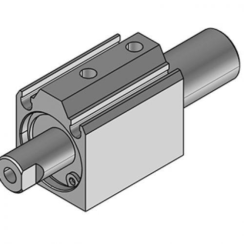 Kurzhubzylinder JDR141005, 2-fach wirkend, verdrehgesichert. Kann mit Vakuumsauger oder Druckplatte kombiniert werden. Greiferkomponenten online bestellen!