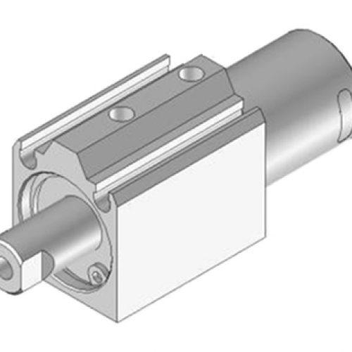 Kurzhubzylinder JDR201005, 2-fach wirkend, verdrehgesichert. Kann mit Vakuumsauger oder Druckplatte kombiniert werden. Greiferkomponenten online bestellen!