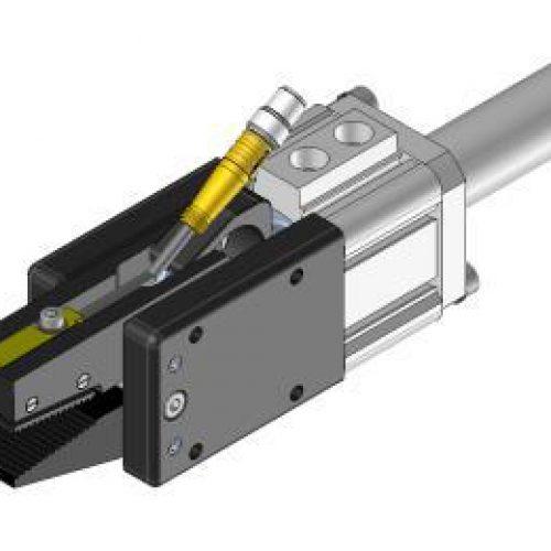 Kraft-Greifzange GZ.3220.S mit Sensorabfrage, zur Entnahme von Stoßfängern aus Spritzgusswerkzeugen, Klemmgröße 20, extrem hohe Schließkraft 350N, Reihe GZ, Kraftgreifzangen