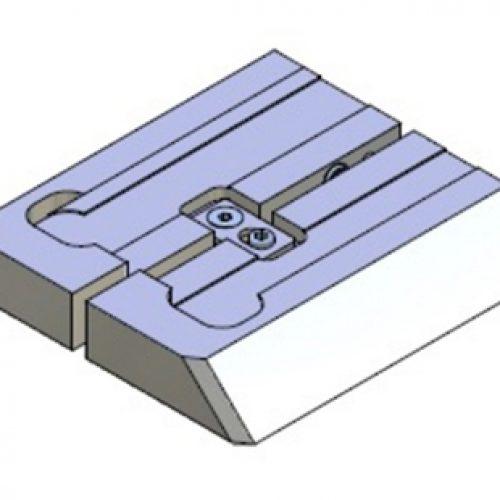 Adapter für Schnellwechselvorrichtung, Greiferseite, quadratisch, Größe: 100x100 für Grundplatte 60x60, Adapter für Schnellwechselsystem GPR1.0 für Roboterarme: Schneller Wechsel von Greifern am Roboter