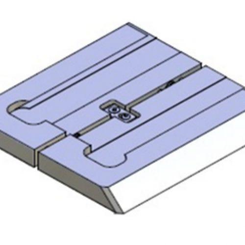 Adapter für Schnellwechselvorrichtung, Greiferseite, quadratisch, Größe: 160x160 für Grundplatte 100x100, Adapter für Schnellwechselsystem GPR2.1 für Roboterarme: Schneller Wechsel von Greifern am Roboter