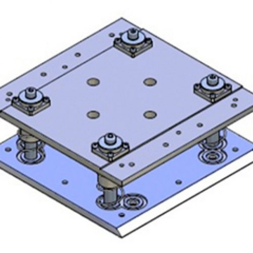 Schnellwechselvorrichtung gefedert, Greiferseite , quadratisch, Größe: 250x250, Hub 30, Schnellwechselsystem gefedert GPG.3 für Roboterarme: Schneller Wechsel von Greifern am Roboter
