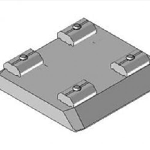 Schnellwechselvorrichtung quadratisch, Greiferseite, 60 x 60, Schnellwechselsystem GPM0 für Roboterarme: Schneller Wechsel von Greifern am Roboter
