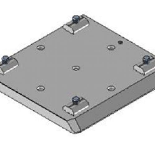 Schnellwechselvorrichtung quadratisch, Greiferseite, 100x100, Schnellwechselsystem GPM1.X für Roboterarme: Schneller Wechsel von Greifern am Roboter