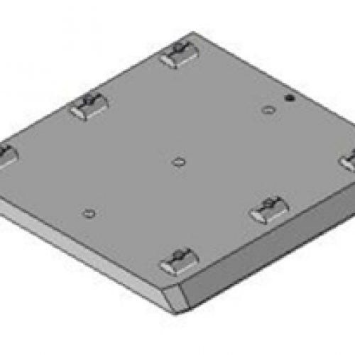 Schnellwechselvorrichtung quadratisch, Greiferseite, 160x160, Schnellwechselsystem GPM2.X für Roboterarme: Schneller Wechsel von Greifern am Roboter
