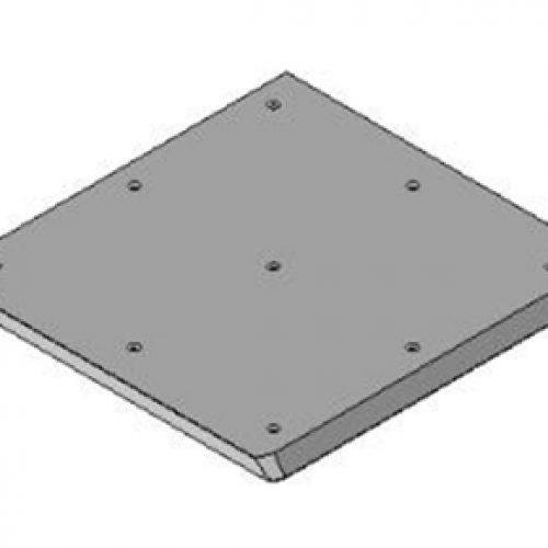 Schnellwechselvorrichtung quadratisch, Greiferseite, 250x250, Schnellwechselsystem GPM3 für Roboterarme: Schneller Wechsel von Greifern am Roboter